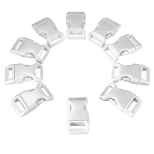 10x-5-8-15mm-contoured-buckles-paracord-bracelets-curved-webbing-side-release-blanc
