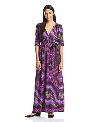 Melissa Masse Women's Long Wrap Dress