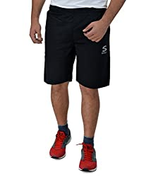 Surly Black Plain DK-1 Polyester Shorts