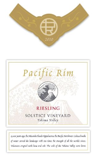 2010 Pacific Rim Riesling Solstice Vineyard 750 Ml