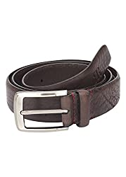 Raymond Dark Brown Leather Men's Belt