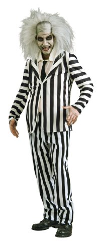 Beetlejuice Costume, Black/White, Standard, Medium
