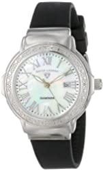 "Swiss Legend Women's 20032D-02 ""South Beach Collection"" Stainless Steel, Black Rubber, and Diamond Watch"