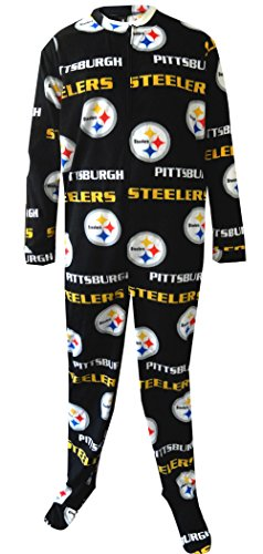 "Pittsburgh Steelers NFL ""Facade"" Men's Micro Fleece Union Suit from SteelerMania"