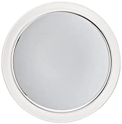 Jerdon JPFM9 9-Inch Fogless Suction Shower Mirror with 3x Magnification, Chrome and Acrylic Finish