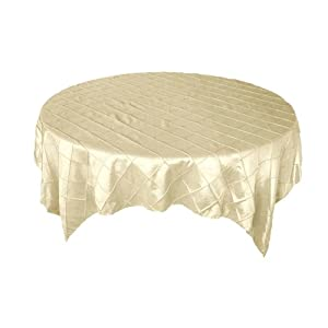 "72"" Square Pintuck TABLE OVERLAY Wedding Party Linens"
