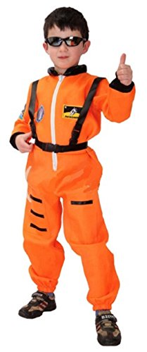 ShonanCos Heroic Astronaut Cosplay Children Kids Costumes Space Suits Uniform (Orange)
