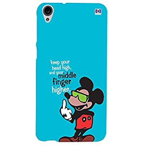 Middle Finger Higher - Mobile Back Case Cover For HTC Desire 820