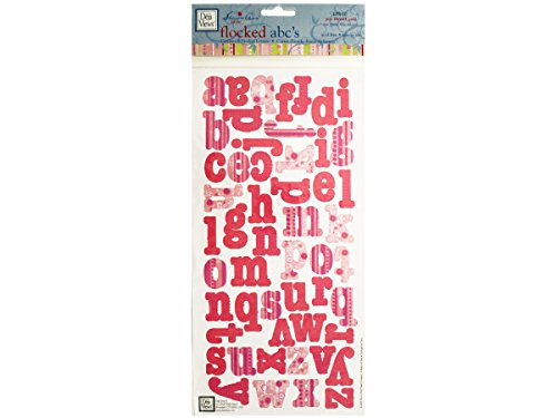bulk buys My Sweet Girl Flocked Abcs Cardstock Sticker Letters - 1