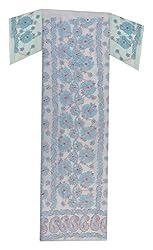 knool Women's Cotton Kurti Fabric (White)