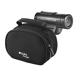 Durable Black Camcorder Padded Carry Case With Handle And Extra Storage Space For Your Accessories Compatable With Contour Roam, Contour Roam 2 & Roam +2