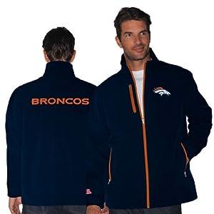 Denver Broncos Navy Overtime Softshell Jacket by Football Fanatics