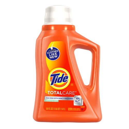 Tide TotalCare, for High Efficiency Machines,Liquid Renewing Rain Scent, 20 loads. 50-Ounce