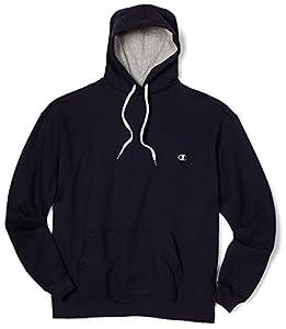 Champion Men's Pullover Eco Fleece Hoodie, Navy, XX-Large