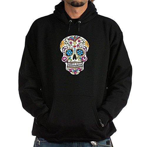Cafepress Sugar Skull Hoodie Dark - L Black