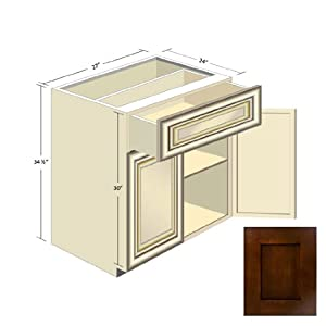 Espresso shaker kitchen cabinets b 27 kitchen for Amazon kitchen cabinets