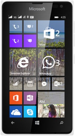 Microsoft Lumia 435 UNLOCKED Windows Phone 8 WP8 2G GSM 850/900/1800/1900MHZ, 3G 850/900/1900/2100MHZ (White)