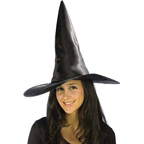 Deluxe Satin Witch Hat Costume Accessory - 1