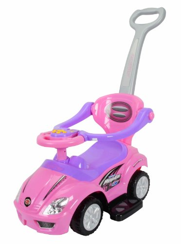 Best-Ride-on-Cars-3-in-1-Push-Car-Pink