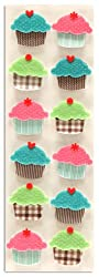 Martha Stewart Crafts Dimensional Cupcake Stickers By The Package