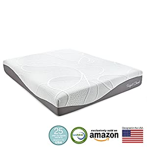 Perfect Cloud UltraPlush Gel-Max 10 Inch Memory Foam Mattress - Amazon Exclusive Model Featuring New Visco Gel Cool Design - 25 Year Warranty