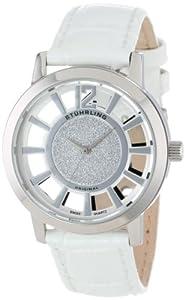 Stuhrling Original Women's 388L.SET.01 Winchester Edinburgh Swiss Quartz White Watch with Additional Strap
