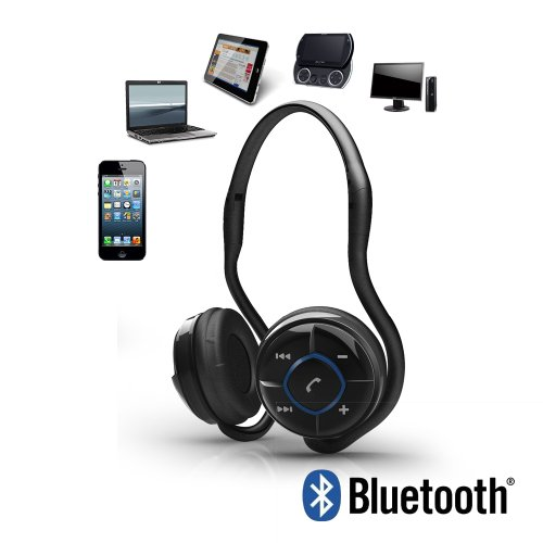 Music Jogger Wireless Stereo Headphones, Music Streaming, noise reduction & Hands-Free voice calls Includes FREE Premier Carry Case