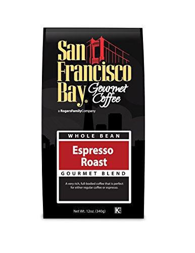 San Francisco Bay Coffee Whole Bean, Espresso Roast, 12 Ounce (Pack of 3) (San Francisco Bay Espresso Roast compare prices)