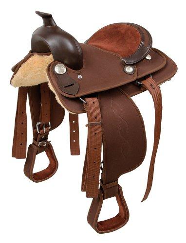 Kerbl 32900 Westernsattel Pony 12 Zoll, braun