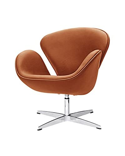 Manhattan Living Swan Chair Leather, Light Brown