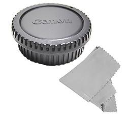 CowboyStudio Rear Lens Cap and Camera Body Cover Cap for CANON Rebel (T3i T3 T2 T2i T1i XT XTi XSi XS), CANON EOS (1100D 600D 550D 500D 450D 400D 350D 300D 60D 7D) + Microfiber Cleaning Cloth