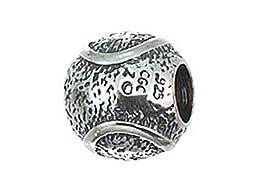 Zable Sterling Silver Tennis Ball Pandora Compatible Bead / Charm