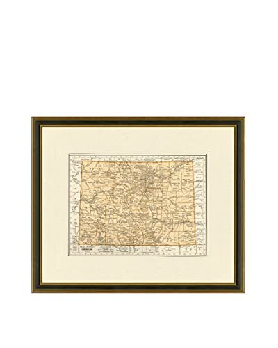 Vintage Print Gallery Antique Map Of Colorado 1937, Multi, 17.5 x 20.5