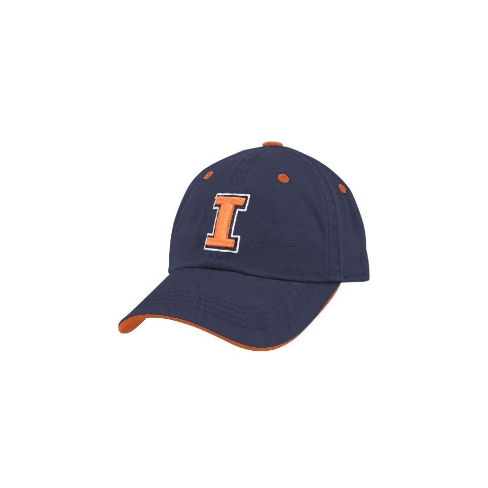 sports shoes 7c2ba 7634b Top of the World Illinois Fighting Illini Navy Blue Youth Crew Adjustable  Hat