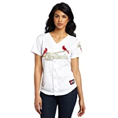 MLB Ladies St. Louis Cardinals Replica Jersey (White Gold) by Majestic