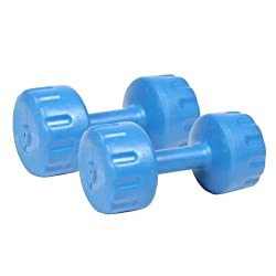 Body Maxx 4 Kg Pvc Colored Dumbells x 1 Pair. Total 8 kg pvc dumbells Sets