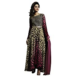 Bhelpuri Women Multicolour Satin Raw Silk Semi-stitched Salwar Kameez