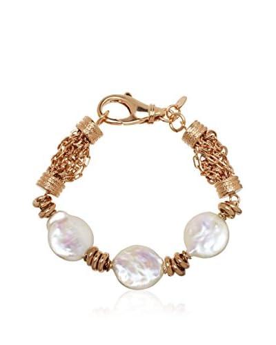 Perlaviva Pulsera Fancy W/ed Pearls Rosado /