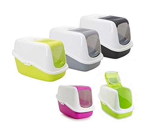 toilette-accessoriata-savic-nestor-lettiera-per-gatti-in-plastica-completa-di-accessori-verde
