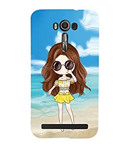 Vizagbeats Animated Girl with Goggles Back Case Cover for Asus Zenfone 2 Laser ZE550KL::Asus Zenfone 2 Laser ZE550KL (5.5 Inches)