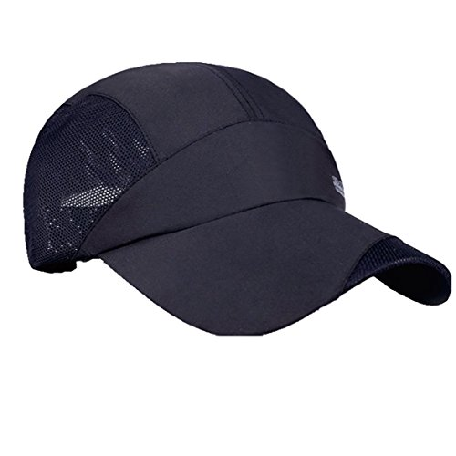 G7Explorer Quick Drying Breathable Running Outdoor Hat Cap Only 2 Ounces (Black)