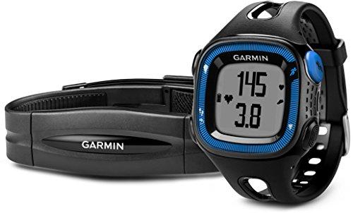 Garmin Forerunner 15 GPS Running con Funzione Contapassi, Misura Large, Nero/Blu