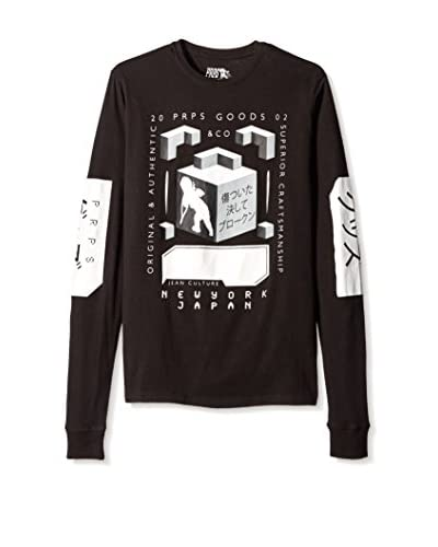 PRPS Goods & Co. Men's Cube Graphic Long Sleeve Pullover