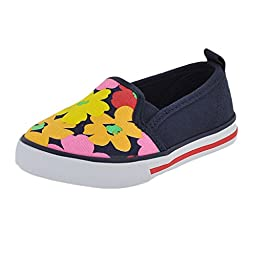 Hanna Andersson Lillian Sneaker Slip-On (Toddler/Little Kid/Big Kid), Navy, 9 M US Toddler