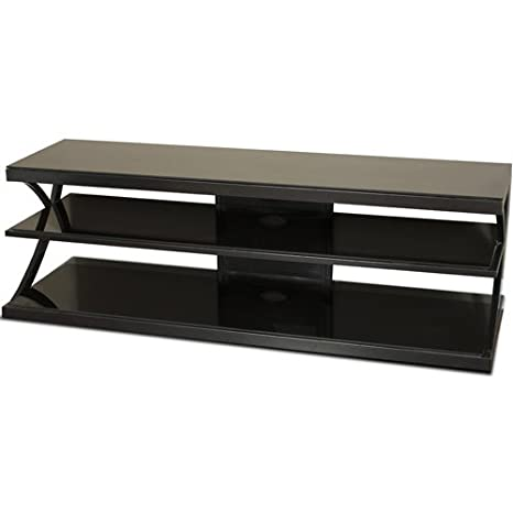 TechCraft NTR60 60-Inch Wide Flat Panel TV Stand - Black/Glass
