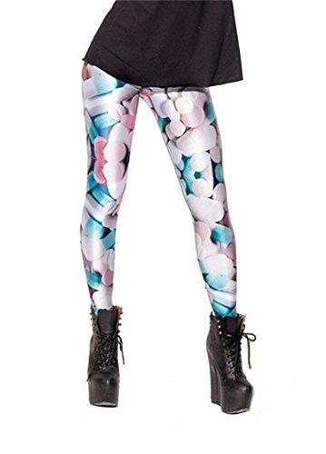 Women'S Fashion Digital Print Pills Pattern Sexy Leggings