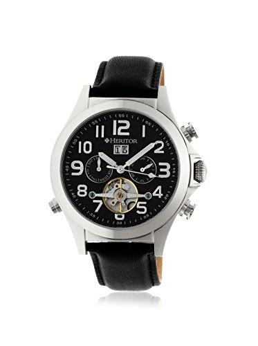 Heritor Automatic Men's Adams Black Leather Watch