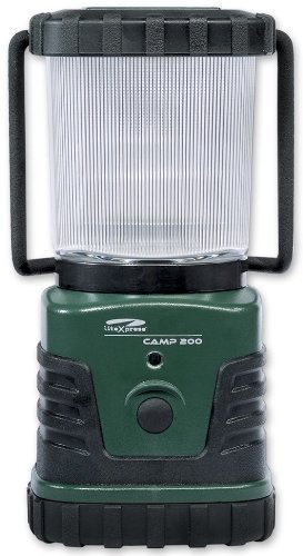 LiteXpress LXL902008 Camp 200 Lantern Lights with 3 Nichia High Performance LED/ 230lm Light Output and Flashing Green LED Night Indicator by LiteXpress