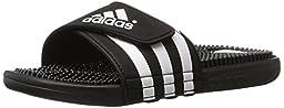 adidas Originals Men\'s Adissage Slides,Black/Black/White,11 M US