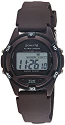 Sonata Digital Grey Dial Mens Watch - 77046PP04